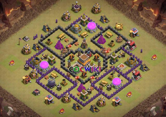 level 8 town hall war base design