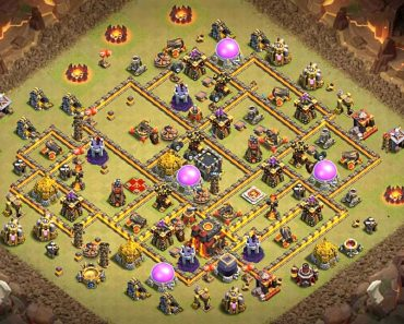 most powerful town hall 10 war base anti everything
