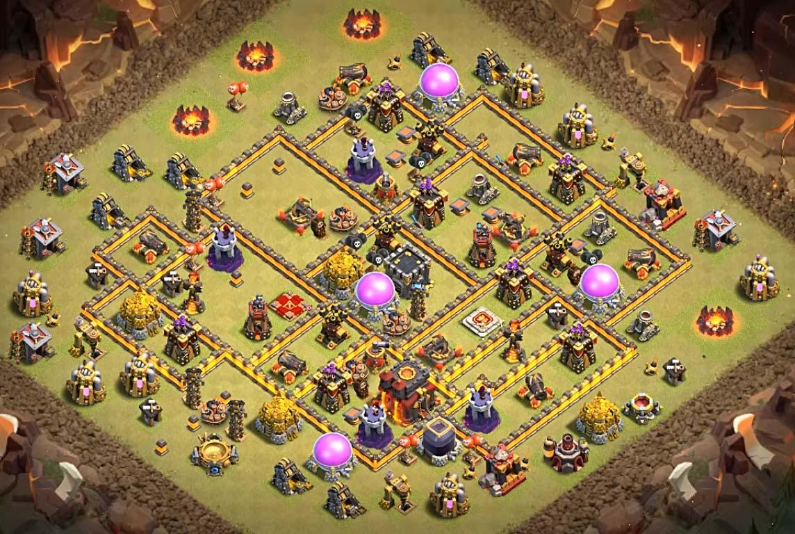 Th10 War Base Coc Th Base Th 10 Terkuat 8