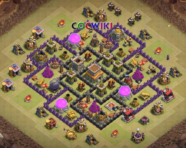 symmetrical town hall 8 war base design for ground troops