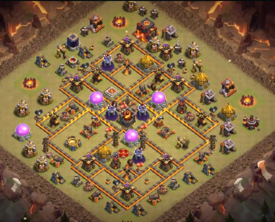 town hall 10 war base anti everything