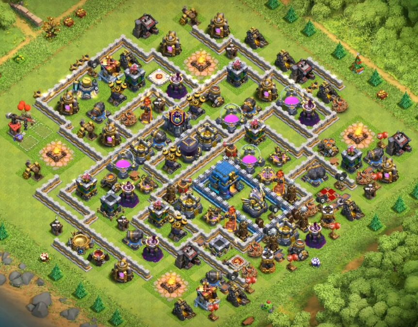 clash of clans town hall 12 farming base link