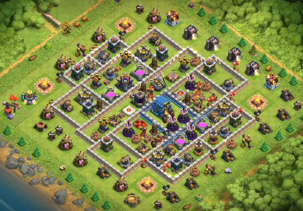 coc th12 farming layout link