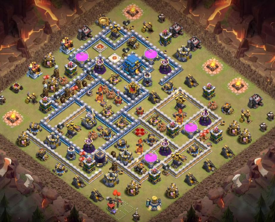 anti 2 star th12 war base with link
