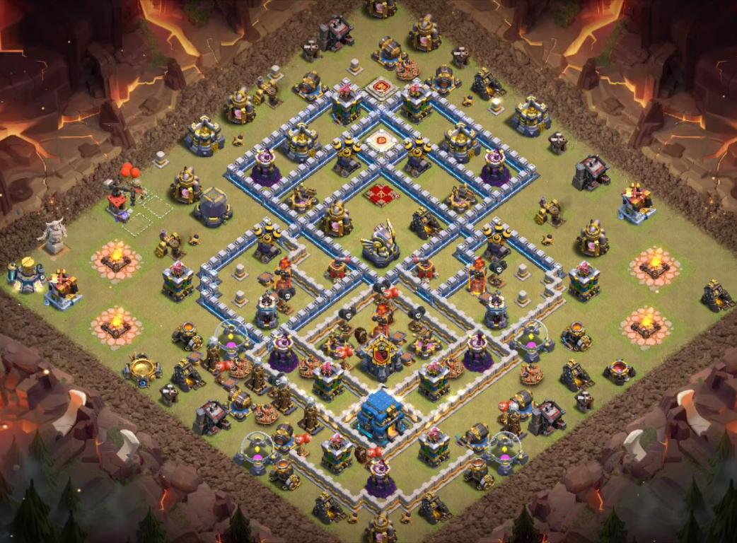 level 12 war base layout link anti everything