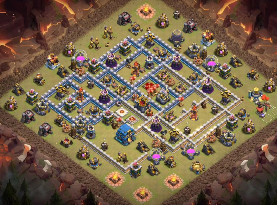 coc th12 war base link