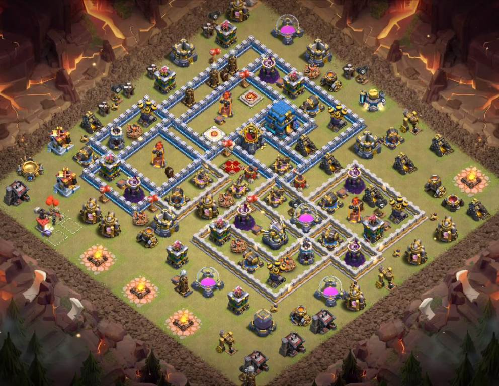 clash of clans th12 war base copy link