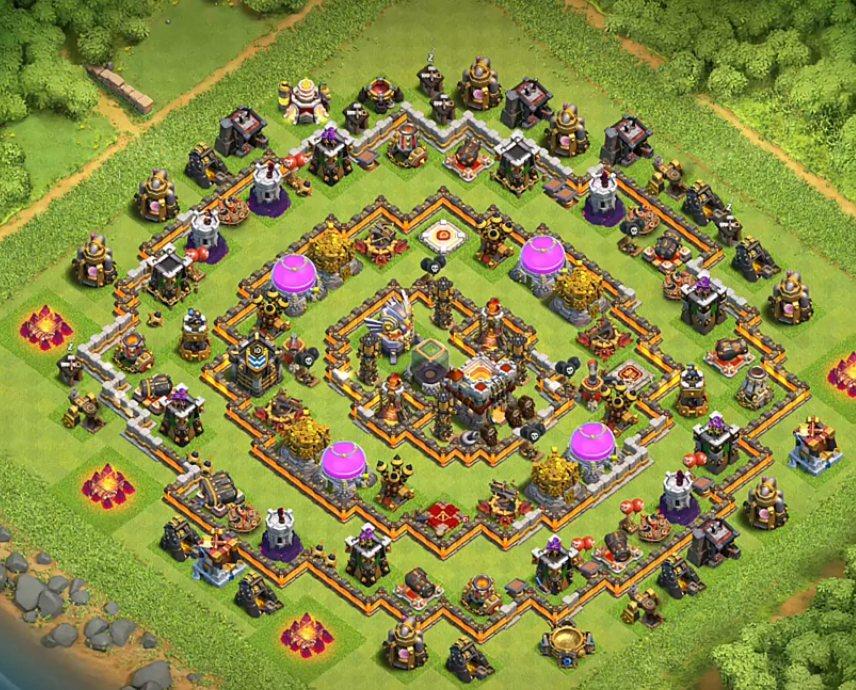 gold and elixir and dark elixir farming base layout link