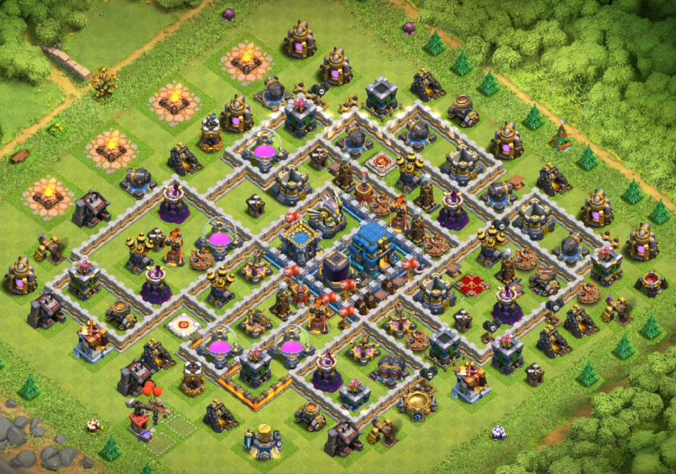 Clash of Clans Town Hall 12 Farming Layout Links