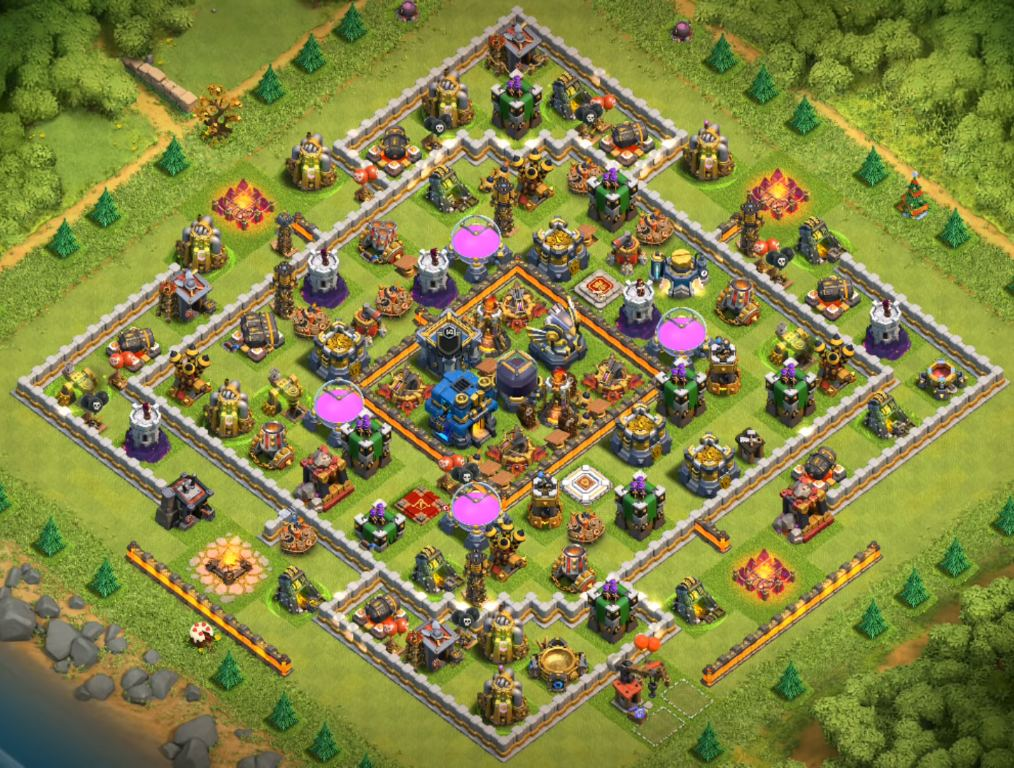 clash of clans th12 farming base