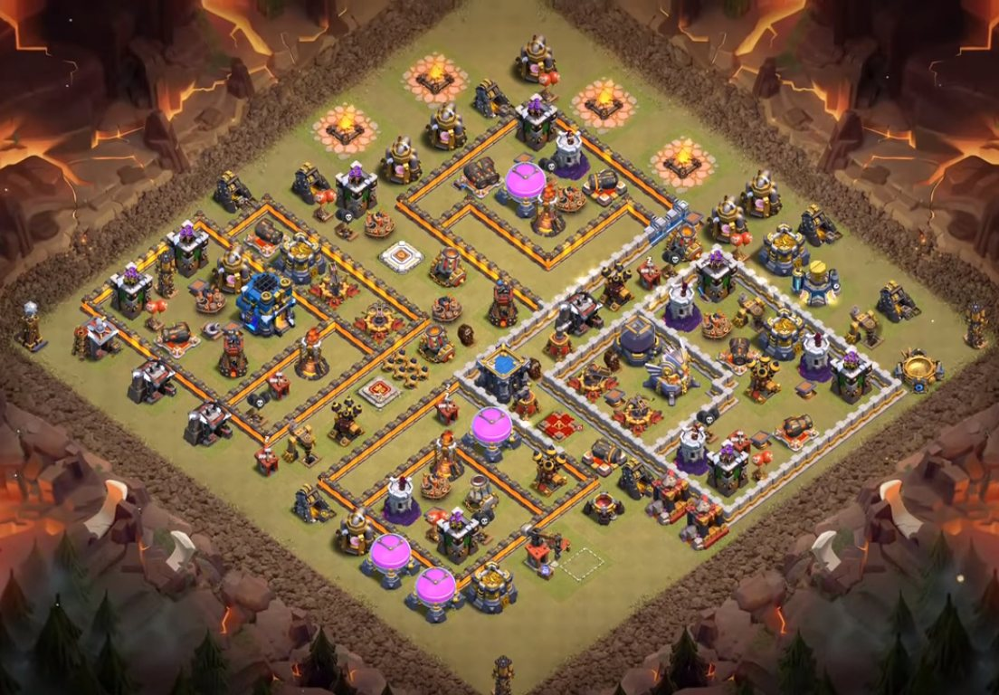 coc th12 anti 3 star war base