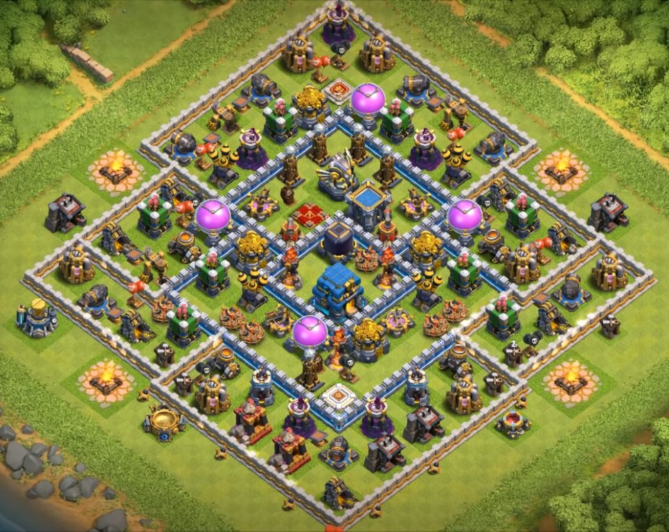 coc th12 farming base