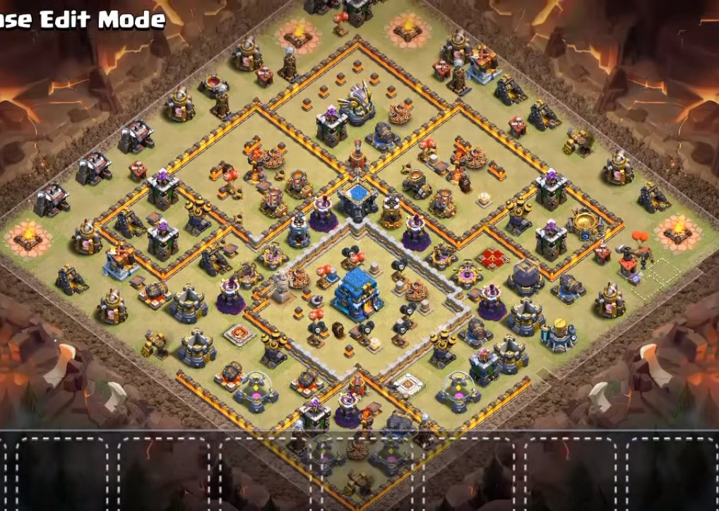 th12 cwl war base anti electro dragon