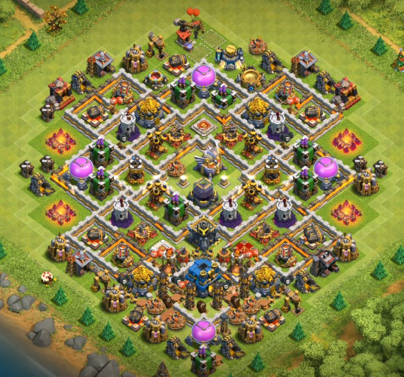 town hall 12 farming base