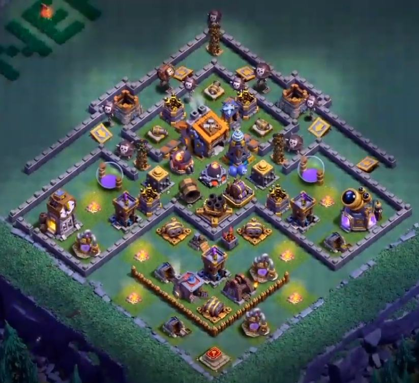 Best Builder Hall 9 Base Design anti 3 stars