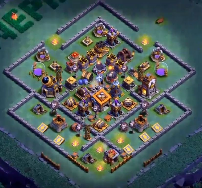 6+ Best Builder Hall 9 Base Design 2019 | Anti 1,2,3 Stars ...