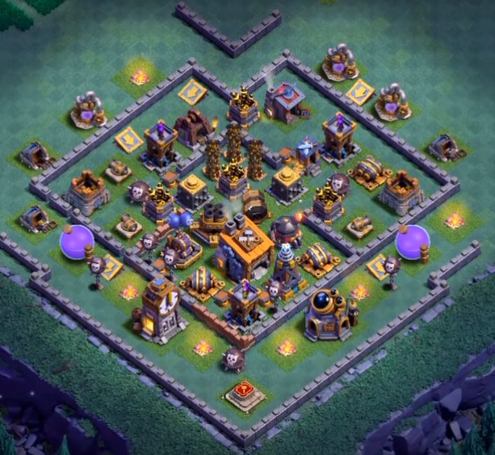 best builder hall 8 base design anti 1 star
