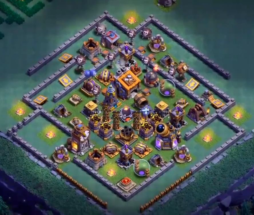 clash of clans builder hall 9 base layout