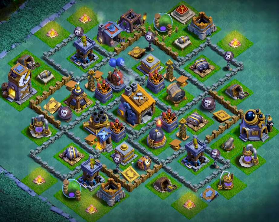 coc builder hall 8 base