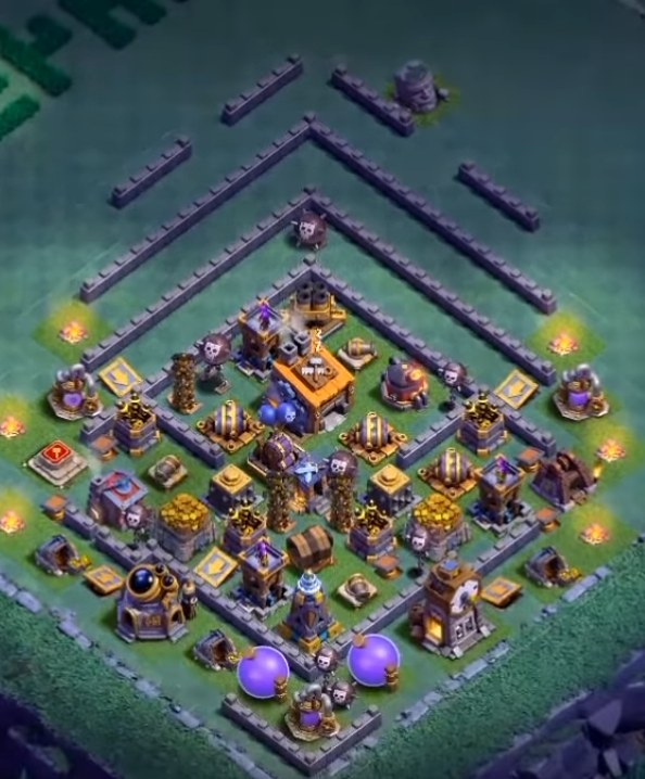 coc level 8 builder hall base design anti pekka