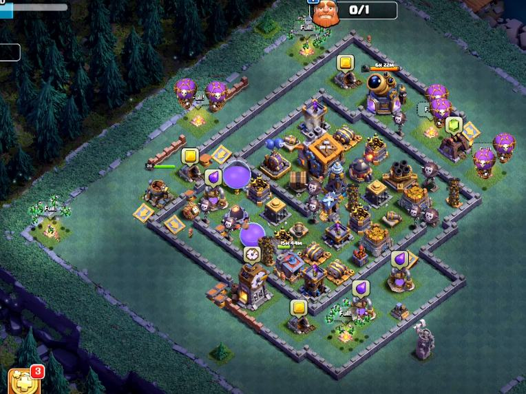 latest builder hall 9 base anti 1 star