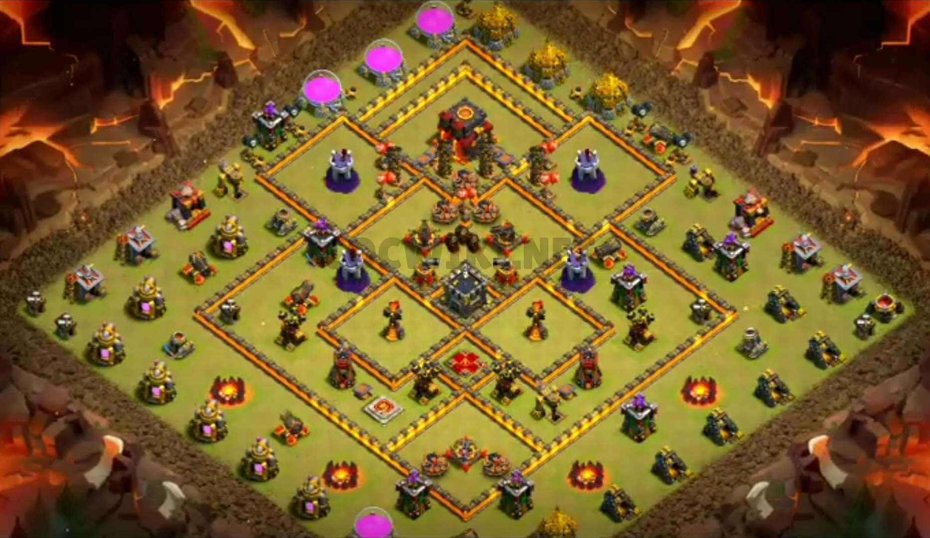 clash of clans anti 3 stars design town hall 10