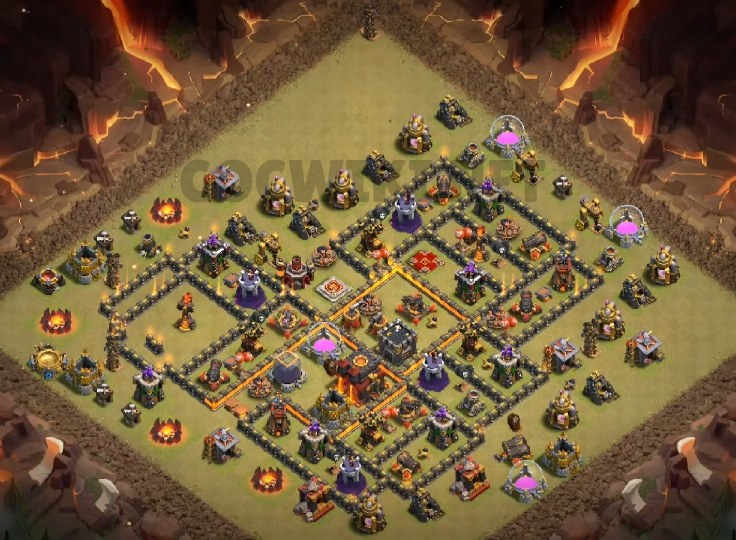 clash of clans th10 war base