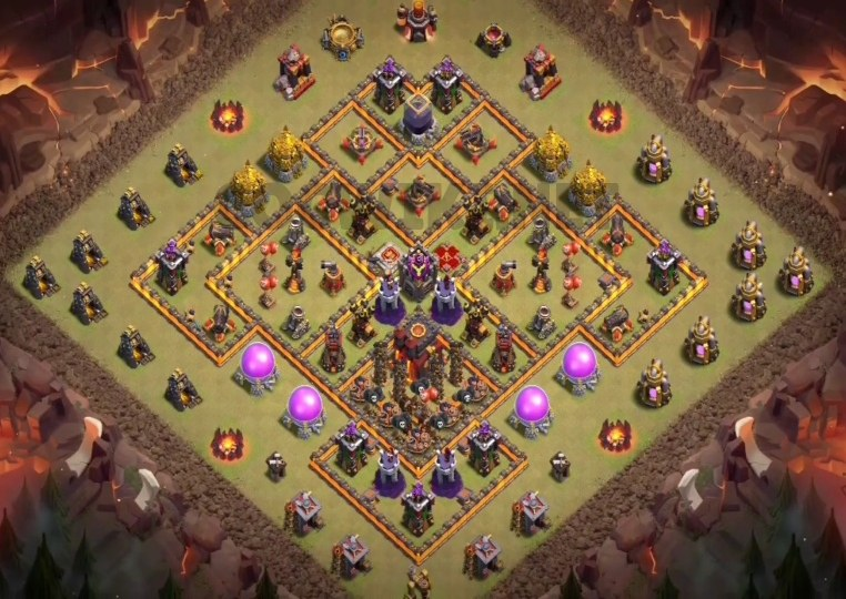 clash of clans th10 war layout link
