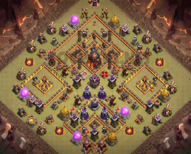 clash of clans town hall 10 base layout