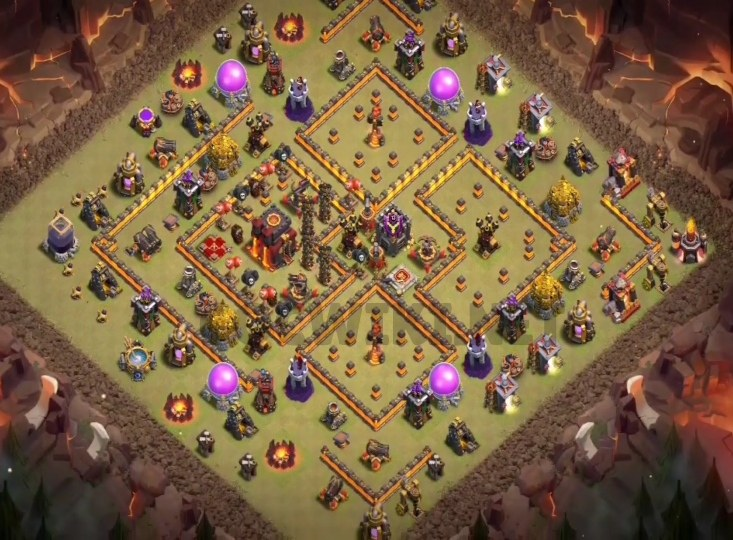 clash of clans town hall 10 base