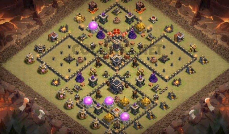 level nine war base anti 2 star