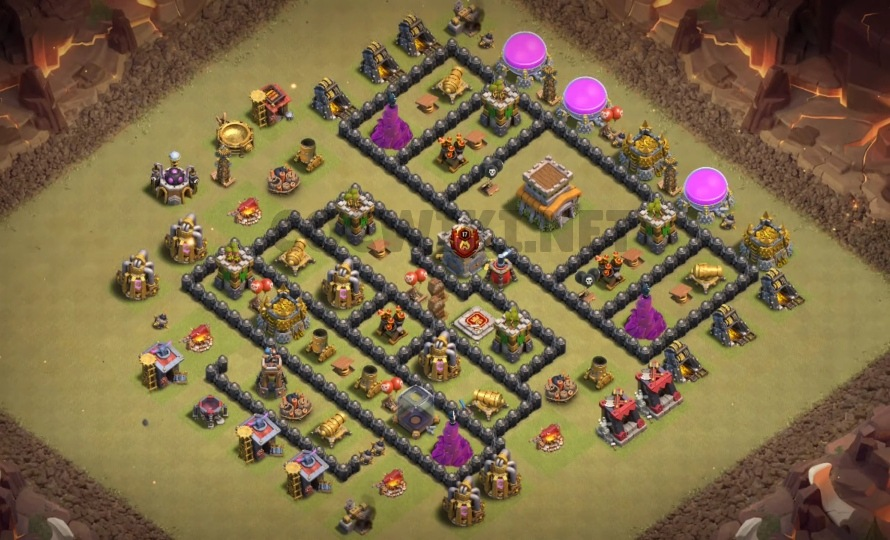 clash of clans th8 war base