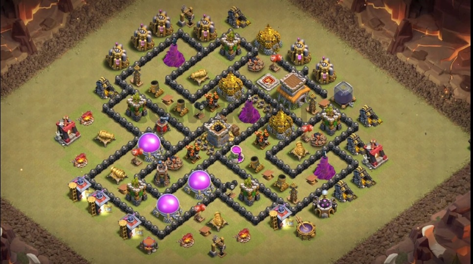 clash of clans th8 war layout link