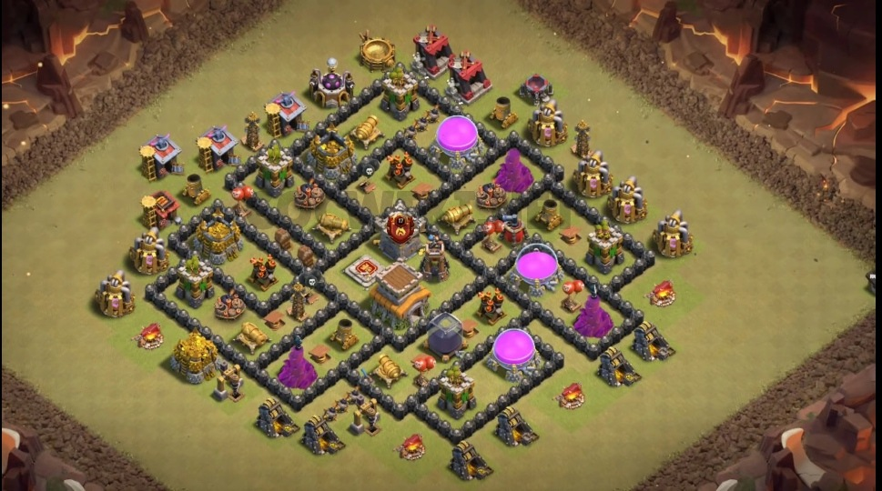 clash of clans town hall 8 base layout