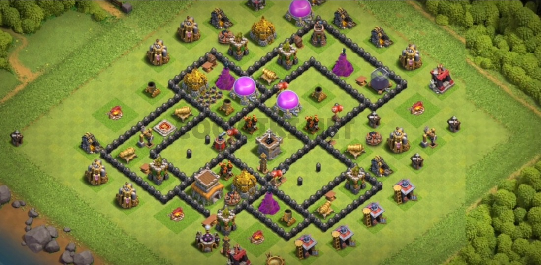 clash of clans town halll eight war layout link
