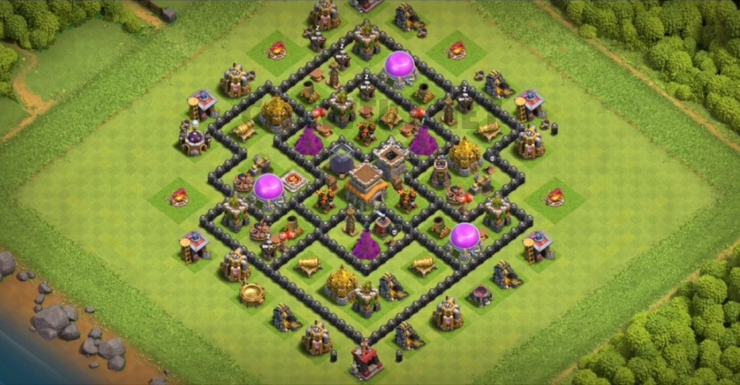 coc th8 war base design map link download