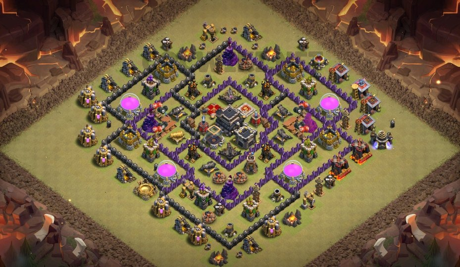 best clash of clans base town hall 9 link