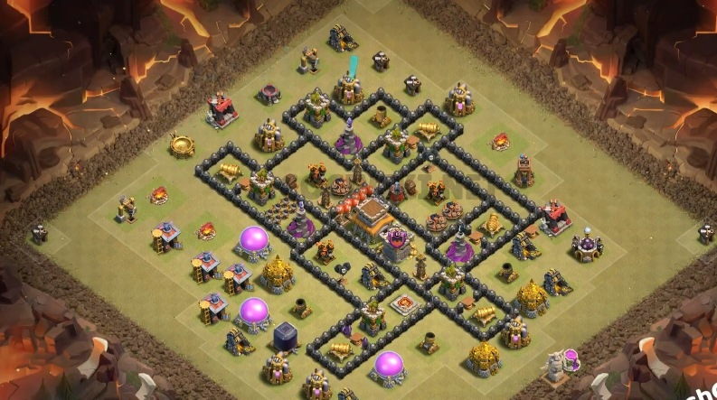 top town hall 8 war village map link