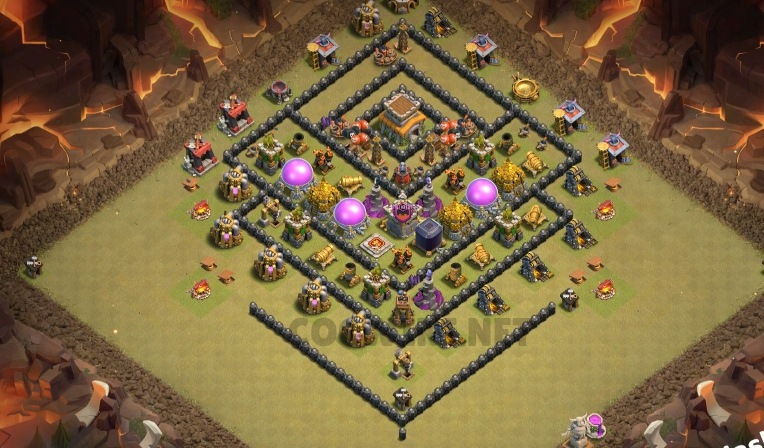 best clash of clans base town hall 8 link