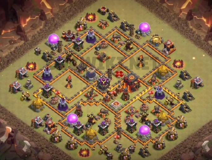clash of clans th10 war base