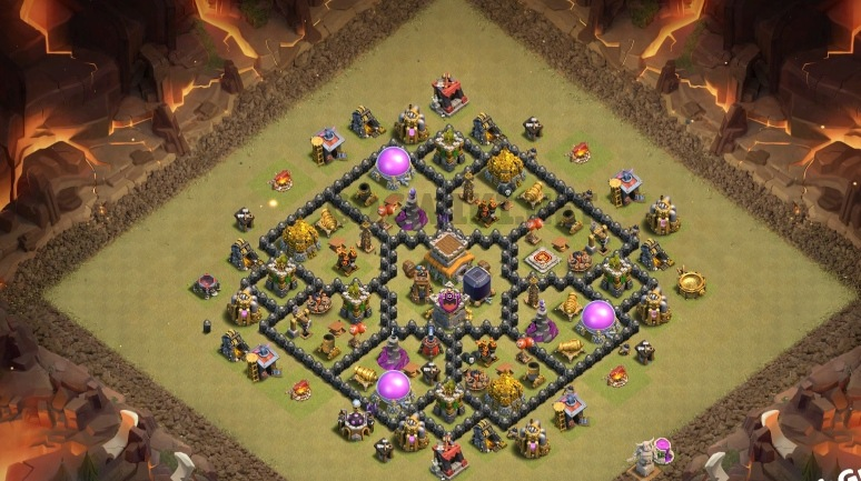 best th8 war base link
