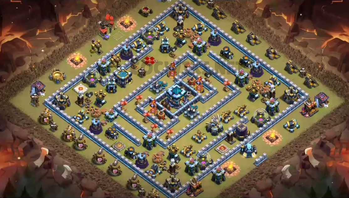 clash of clans anti 3 stars design town hall 13