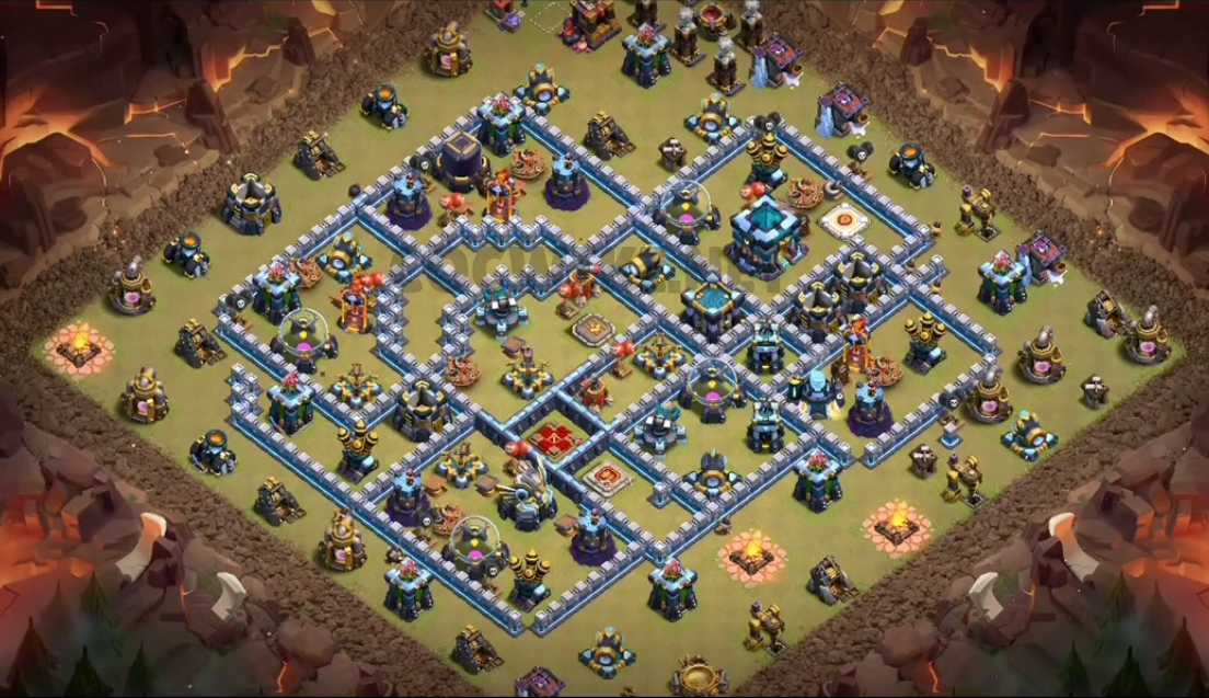 clash of clans th13 war base