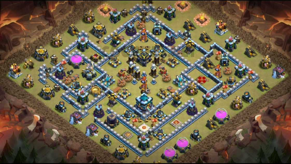 clash of clans th13 war layout link