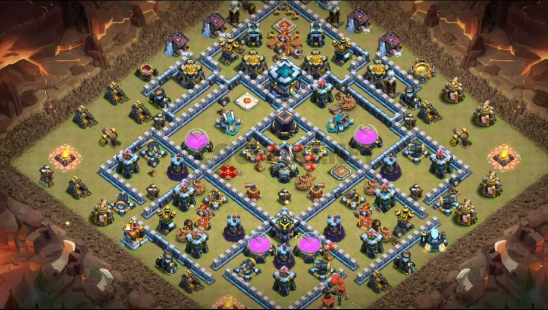 clash of clans town halll thirteen war layout link