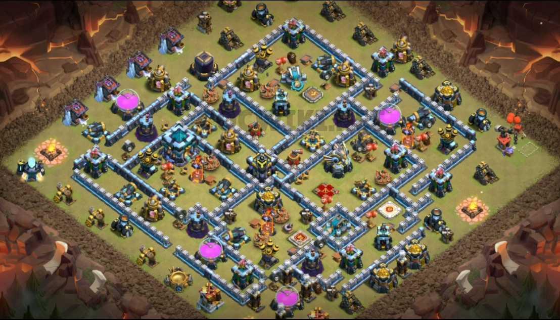 coc th13 war base design map link download