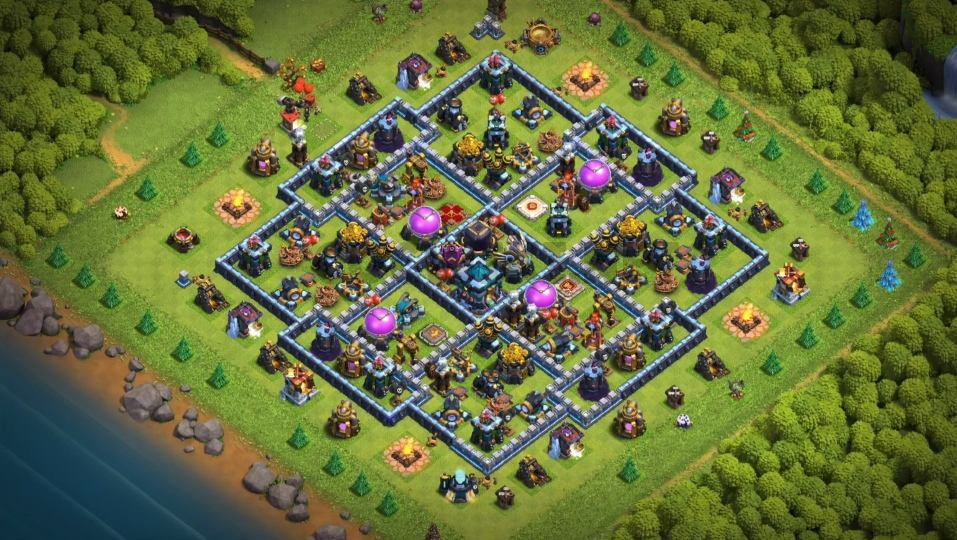 clash of clans th13 farming base link