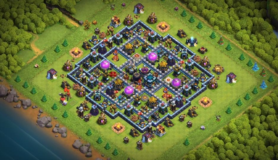 town hall 13 farming base link anti everything