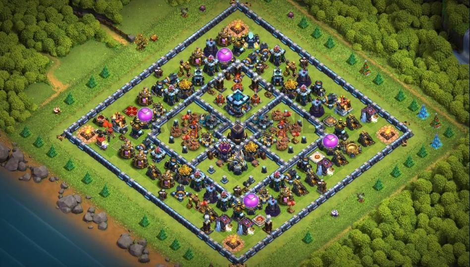level 13 farming base design anti air link