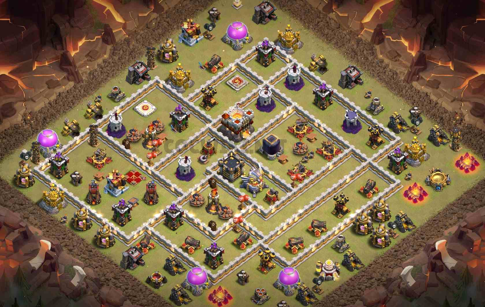 clash of clans th11 war base